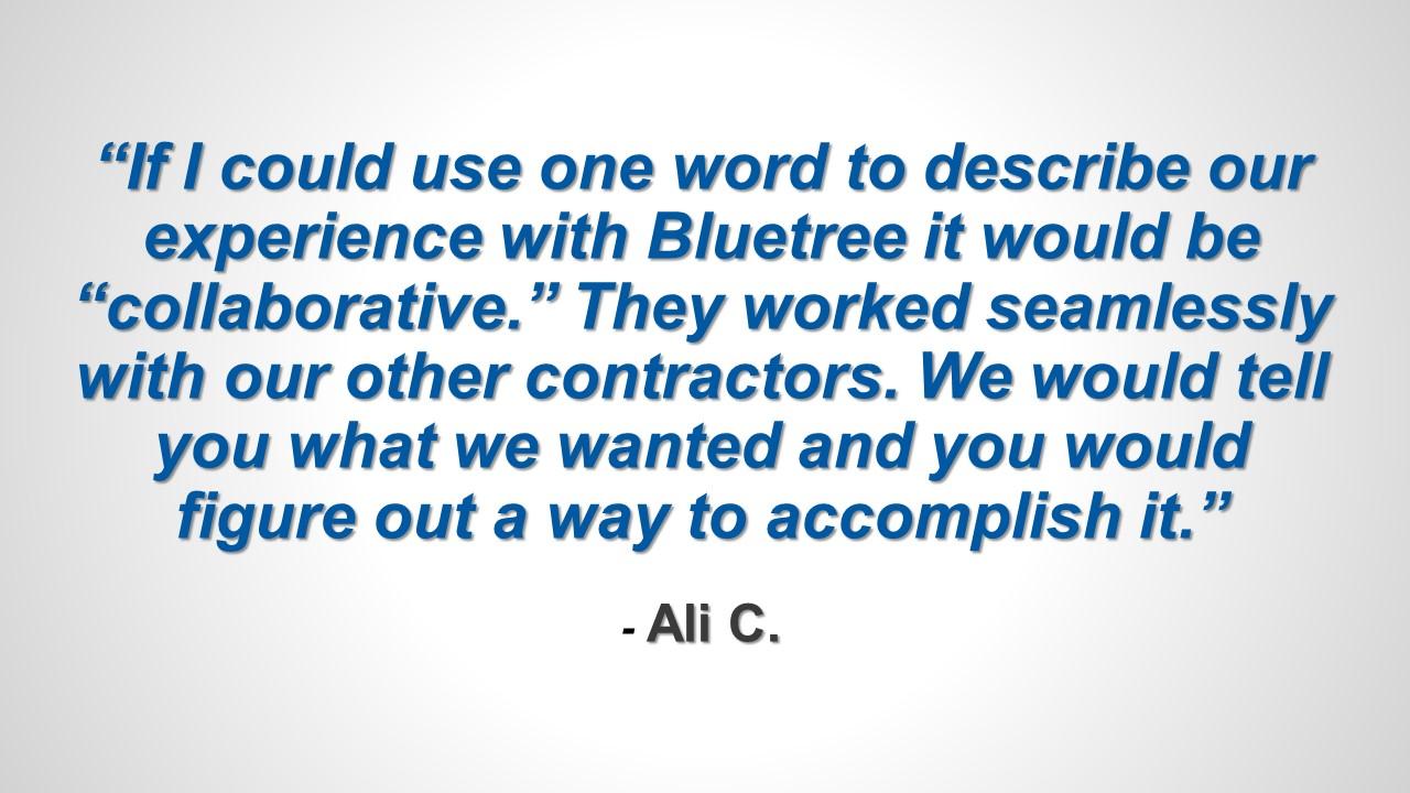 Testimonial - Ali C